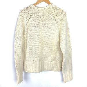 American Eagle NWT Ivory Funnel Neck Heavy Sweater